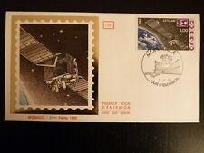 MONACO PREMIER JOUR FDC YVERT  1505    SATELLITE EUTELSAT   3F   MONACO  1985