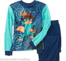 Phineas and Ferb PERRY Boy's size 4/5 Pajamas NeW Long Sleeve Shirt & Pants Pjs