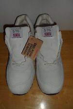 MUST SEE $249.99 NWT NEW BALANCE 576 M576NRW MADE IN UK NUBUCK WHITE MEN 11 D