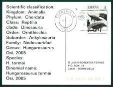 SPAIN DINOSAUR DINOSAURE DINOSAURS - CUSTOM STAMP - ONLY 5 CARDS MADE! ch39