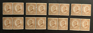 TDStamps: US Stamps Scott#598 (8) Mint NH OG Pairs and Line Pairs