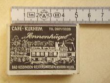 Streichholzschachtel 60er Jahre Cafe Sonnenhügel Reiterswiesen Bad Kissingen