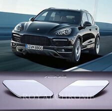 US STOCK x2 ROYAL CHROME Head Light Washer Trim Cap for Porsche Cayenne Type 958