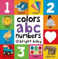 Bright Baby Colors, ABC, Numbers (Board Book)