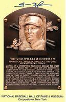 San Diego Padres Trevor Hoffman Autographed Hall of Fame Plaque Postcard JSA ...