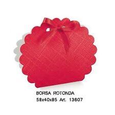 Scatola bomboniera Borsa rotonda laurea seta rosso 58x40x85mm n 20 pz art 13607