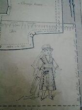 """PATRON ORIGINAL POUR LA POUPEE BLEUETTE """" ROBE DE MARIEE  MARS 1919"""