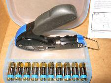 Coaxial cable compression tool RG6 RG59 F connector fitting coax crimper striper