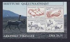GREENLAND ARCTIC VIKINGS SHEET. MINT NEVER HINGED. CAT $19.00
