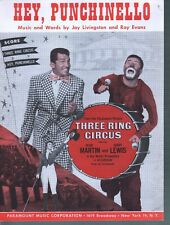 Hey Punchinello 1954 Three Ring Circus Dean Martin Jerry Lewis Sheet Music