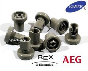 Cesta ruolo Per AEG Electrolux come 5028696500//4 per Cestino Sotto Lavastoviglie 8stk