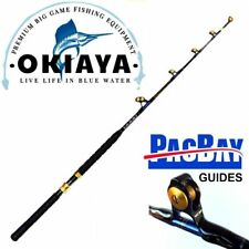 OKIAYA STANDUP TROLLING RODS 80-130LB VENOM-PRO CARBON BLANK/PAC BAY GUIDES