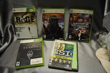 *Five* Xbox 360 game Rage Csi Sylpheed Human Skyrim Lot 5 for only $25 US seller