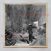 1940s YUEN LONG WOMEN FARMER CARRY VEGETABLE Vintage Hong Kong Photo 29526 香港旧照片