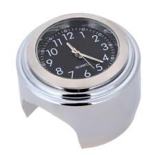 7/8 Universal Chrome Wasserdichte Lenkerhalterung Uhr Aluminium für Motorrad