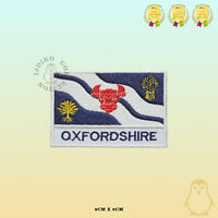 OXFORDSHIRE County Flag With Name Embroidered Iron On Sew On Patch Badge