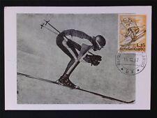 San MARINO MK 1962 sciatore skiing maximum carta carte MAXIMUM CARD MC cm c7068