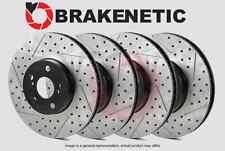 [FRONT + REAR] BRAKENETIC PREMIUM Drilled Slotted Brake Disc Rotors BPRS34194