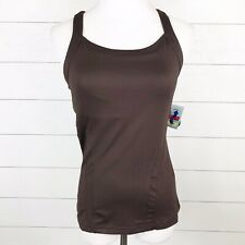 08e10ddb993df Bolle Women's Small Racerback Tank Extra Dry Brown White Houndstooth Key  Hole