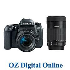 NEW Canon EOS 77D 18-55 + 55-250 Twin STM Lens Kits 24.2MP DSLR Camera 1YrAuWty