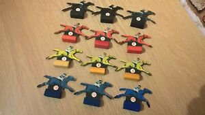 WADDINGTONS TOTOPOLY SET OF CARD HORSE TOKENS BOARD GAME SPARE PART EARLY STYLE