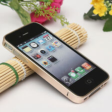 clip-on Ultra Slim Aluminum Alloy Metal Flat Bumper Case for iPhone 4s 4 SE 5s 5