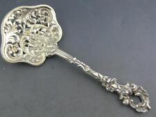 Sterling J.E. CALDWELL & CO pierced cast Bon Bon Spoon elaborate floral scroll