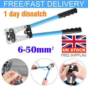 6-50mm² Durable Terminal Battery Cable Lug Plug Crimper Crimping Hand Tool Plier