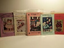 Lot of 5 Assorted Craft and Sewing Patterns