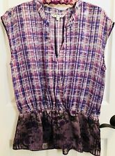 CAbi #731 Eva beautiful purple sleeveless blouse, size M