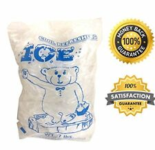 7lbs BPA Free FDA Approved Clear Plastic Ice Bags 1.5 mil With Twist Tie