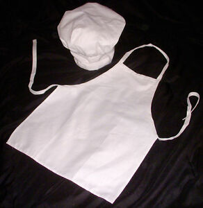 Kids Chef Apron & Hat Cooking Kids Dress-up Party NWT