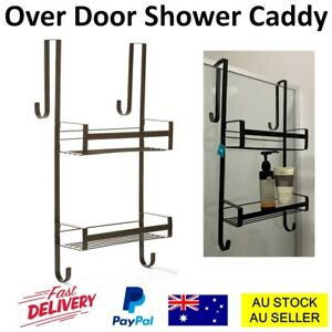 Black Over Door Caddy Shower Bathroom Storage Rack Holder Shampoo Shelf Bath