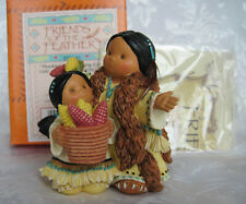 Friends Of The Feather Chief & Girl with Corn New! Thankful For Amaizing Gifts