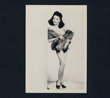 Nude Pin-Up Girl w Fur Stole/pinup ragazza M Pelliccia STOLA * VINTAGE 50s US PHOTO
