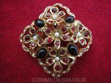 """Broche """"Carré Losange Fleuri"""" N° 1 style 3D Habit Mariage - Bijoux pur Cadeau"""