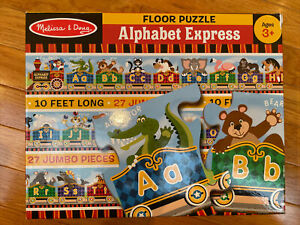 Melissa and Doug 27 Pieces Alphabet Express Floor Puzzle 10 feet long boxed 3+