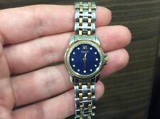 TISSOT Two Tone Sapphire Crystal Ladies Watch Diamond Markers C218/318G