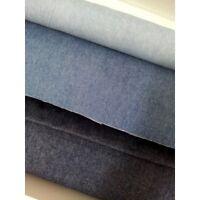"""BLUE JEAN WASHED DENIM FABRIC 100% cotton MEDIUM Weight 8oz 60"""" wide Dressmaking"""