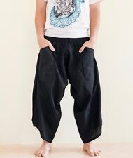 57960ff9fac40 Hippie Japanese Style Yogi Harem Pants Yoga Trousers Casual Summer Solid  Black