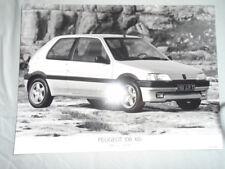 Peugeot 106 XSi Press Photo brochure 1991 German text