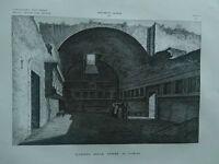 1845 Zuccagni-Orlandini Veduta dell'Interno delle Terme di Pompei