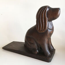 DOOR STOPPER - PLAYFUL PUPPY WOODEN DOOR STOP - WOODEN DOG DOORSTOP