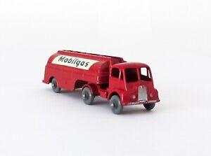 Vintage Lesney Matchbox Major Pack #M-8 Mobilgas Petrol Tanker Gray Wheels XLNT