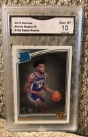 2018 Donruss Marvin Bagley Rated Rookie Gem Mint 10