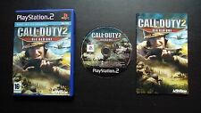 CALL OF DUTY 2 BIG RED ONE : JEU Sony PLAYSTATION 2 PS2 (Activision COMPLET)