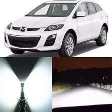 Alla Lighting High Beam Headlight 9005 Super White LED Bulbs for Mazda CX-7 CX-9