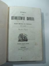 Storia della rivoluzione romana per Miraglia da Strongoli esule calabrese, 1850
