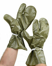 NEW army surplus waterproof vinyl mittens gloves Olive/green nbc protective gear
