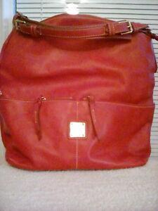 DOONEY & BOURKE RED DILLEN SHOULDER HOBO BAG